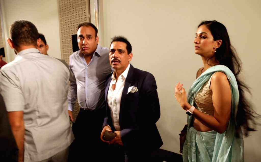 Businessman Robert Vadra at designer Manav Gangwani's show at the India Couture Week 2017, in New Delhi, on July 26, 2017.