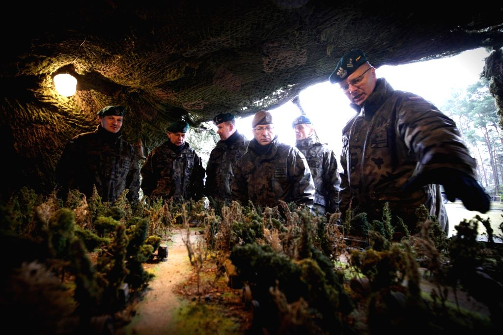 BYDGOSZCZ (POLAND), March 9, 2019 Senior officers of the Polish defence forces visit an exhibition at a military base in Bydgoszcz, Poland, on March 9, 2019. The local military base ...