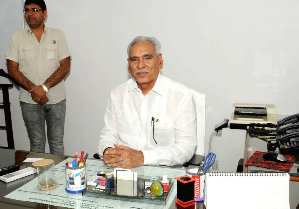 C.R. Chaudhary takes charge as Minister of State for Consumer Affairs, Food and Public Distribution, in New Delhi on July 6, 2016. - R. Chaudhary