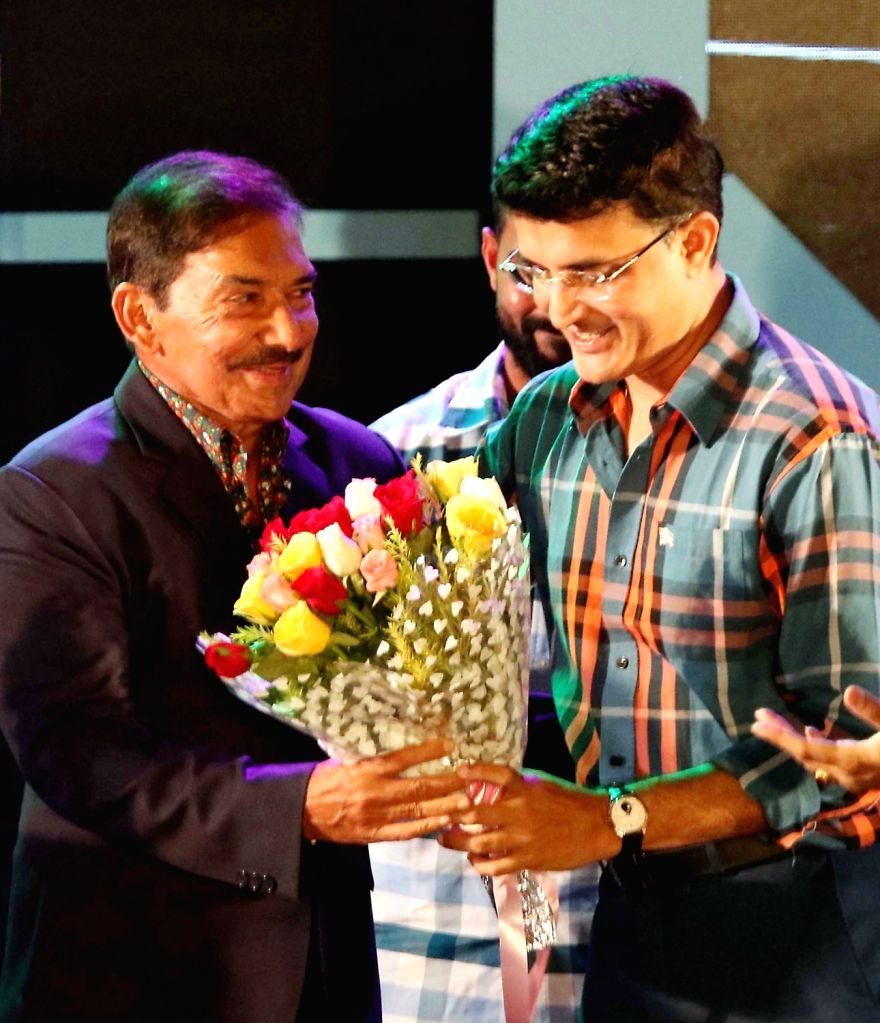 CAB President Sourav Ganguly and former cricketer Arun Lal during CAB's Annual Award Ceremony 2018-2019 in Kolkata on Aug 3, 2019. - Sourav Ganguly
