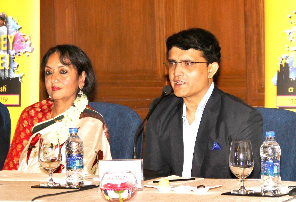 CAB president Sourav Ganguly during a programme organised to raise funds for the phase 2 of Tata Medical Center in Kolkata, on April 6, 2016. - Sourav Ganguly