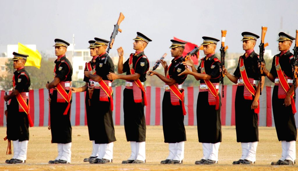 Cadets display their skills during a Combined Display organised as part of end of term activities at Officers Training Academy in Chennai, on March 10, 2017.