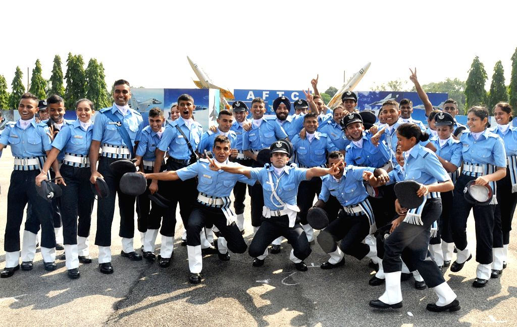 Cadets during graduation ceremony of Air force Technical College (AFTC) in Bengaluru on June 2, 2018.