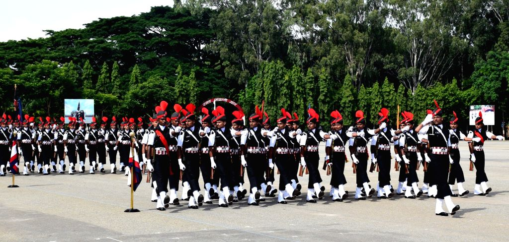 Cadets participate in a march past during the Passing out Parade, in Bengaluru on July 21, 2016.