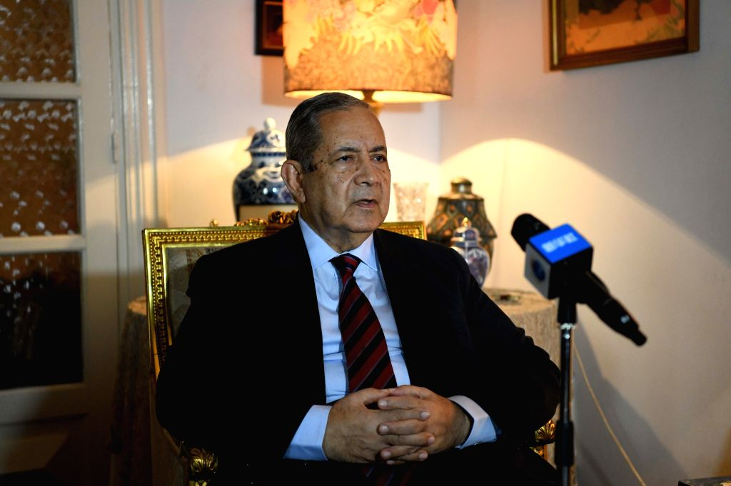 CAIRO, April 4, 2018 - Gamal Bayoumi, head of the Cairo-based Arab Investors Union, receives an interview with Xinhua in Cairo, Egypt, on April 3, 2018. The ongoing trade dispute between the United ...
