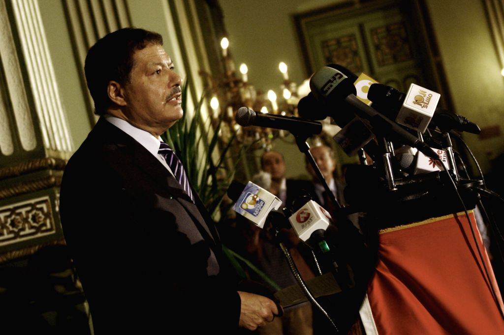 CAIRO, Aug. 3, 2016 - File photo taken on Feb. 6, 2011 shows Egypt's renowned Nobel-laureate scientist Ahmed Zuwail speaking during a press conference in Cairo, Egypt. Egypt's renowned Nobel-laureate ...