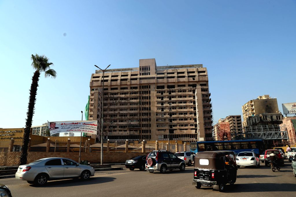 CAIRO, Aug. 9, 2019 - The photo taken on Aug. 9, 2019 shows the National Cancer Institute following an explosion in Cairo, Egypt. The Egyptian police on Thursday identified the terrorist who killed ...