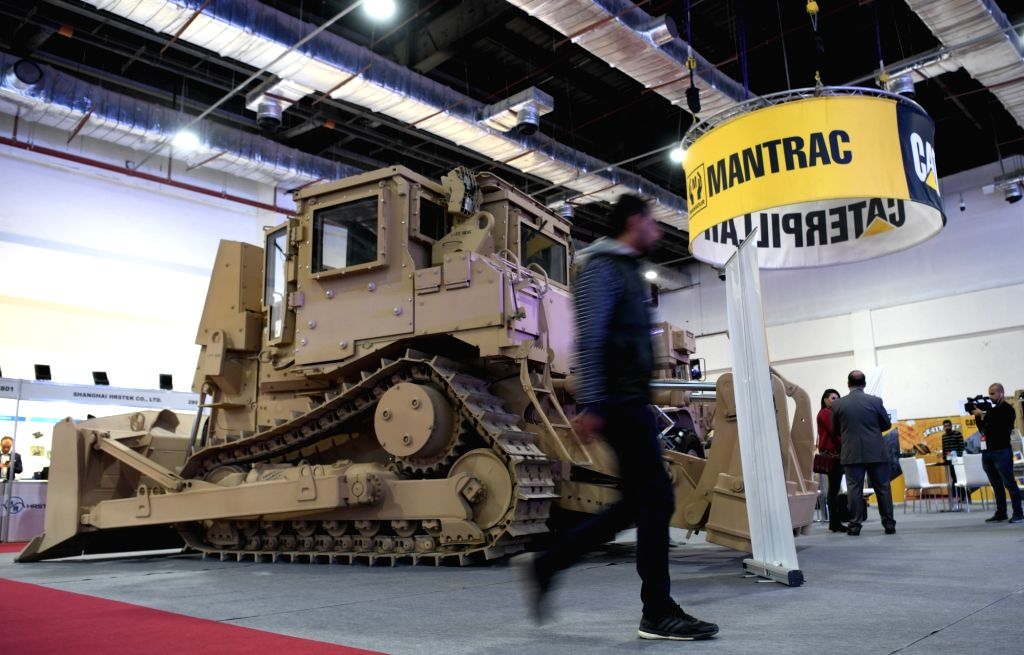 CAIRO, Dec. 4, 2018 - People visit the Egypt Defence Expo (EDEX) in Cairo, Egypt, on Dec. 4, 2018. Egypt's first defence expo, EDEX 2018, is held here from Dec. 3 to Dec. 5.