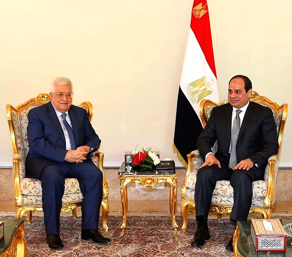 CAIRO, Jan. 17, 2018 - Egyptian President Abdel-Fattah al-Sisi (R) meets with his Palestinian counterpart Mahmoud Abbas in Cairo, Egypt, on Jan. 17, 2018. Egyptian President Abdel-Fattah al-Sisi said ...