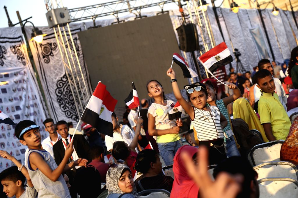 CAIRO, July 1, 2017 - People gather in front of Abdeen Palace to mark the 2013 anti-government demonstrations which led to the overthrow of Egypt's former President Mohammed Morsi in Cairo, Egypt on ...
