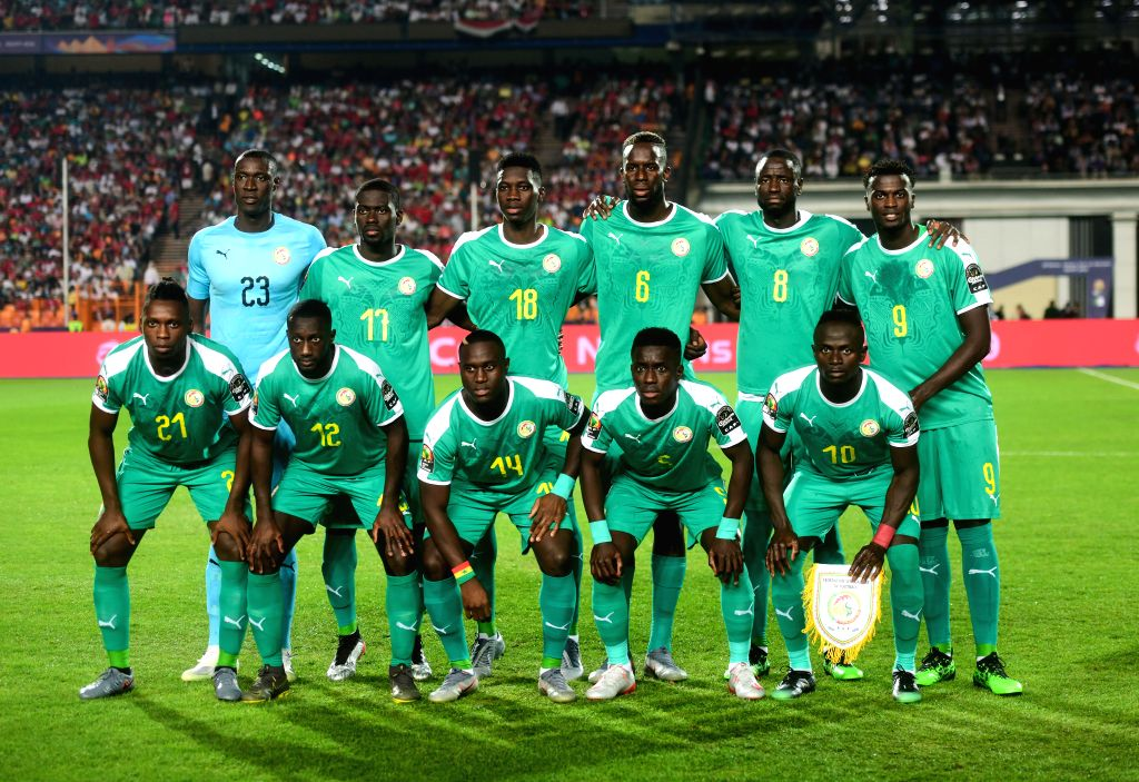 CAIRO, July 20, 2019 - Players of Senegal pose for photos before the 2019 Africa Cup of Nations final match between Senegal and Algeria in Cairo, Egypt on July 19, 2019. Algeria won 1-0 and claimed ...