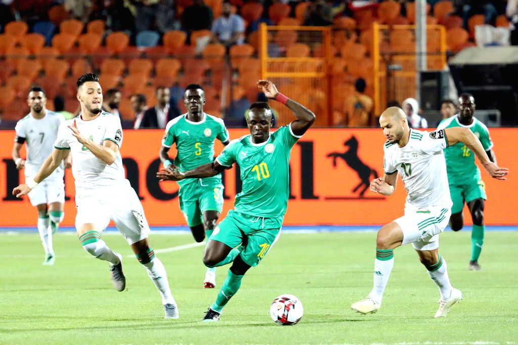 CAIRO, July 20, 2019 - Sadio Mane (3rd R) of Senegal breaks through during the 2019 Africa Cup of Nations final match between Senegal and Algeria in Cairo, Egypt on July 19, 2019. Algeria won 1-0 and ...