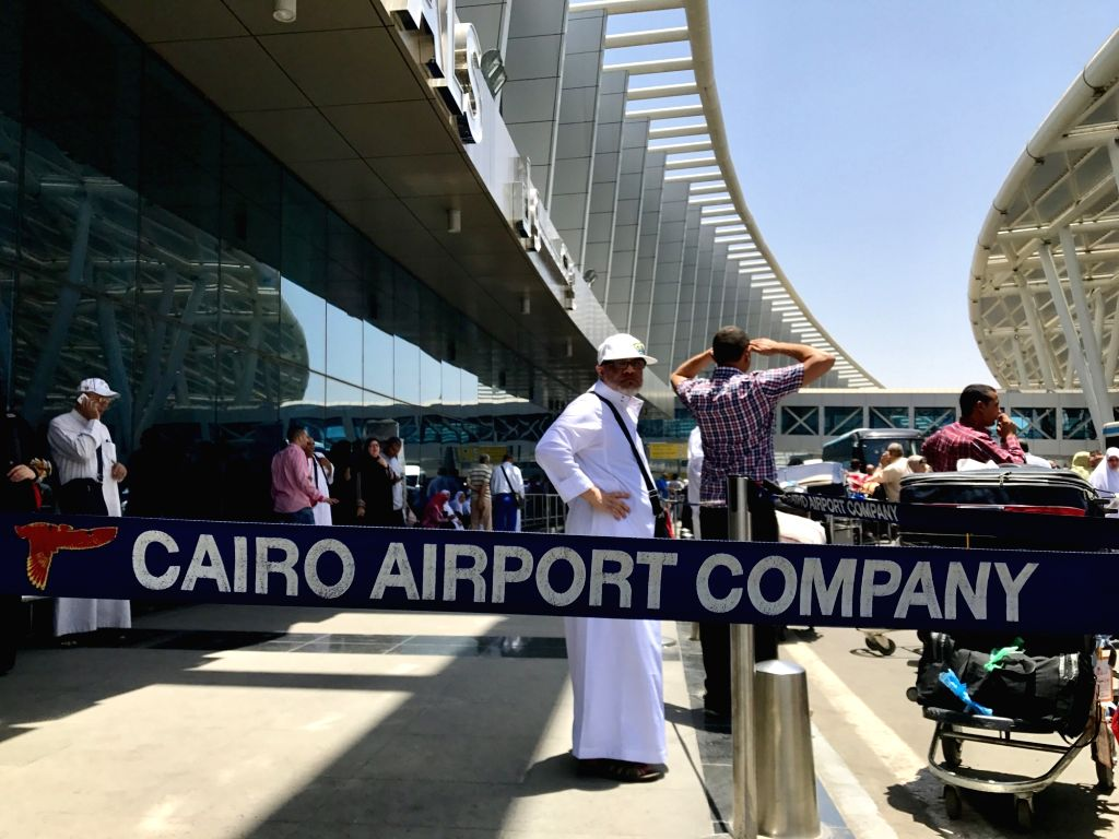 CAIRO, June 5, 2017 - Photo taken on June 5, 2017 shows people waiting at Cairo International Airport in Cairo, Egypt. Egypt announced on Monday the cut of diplomatic ties with Qatar, accusing the ...