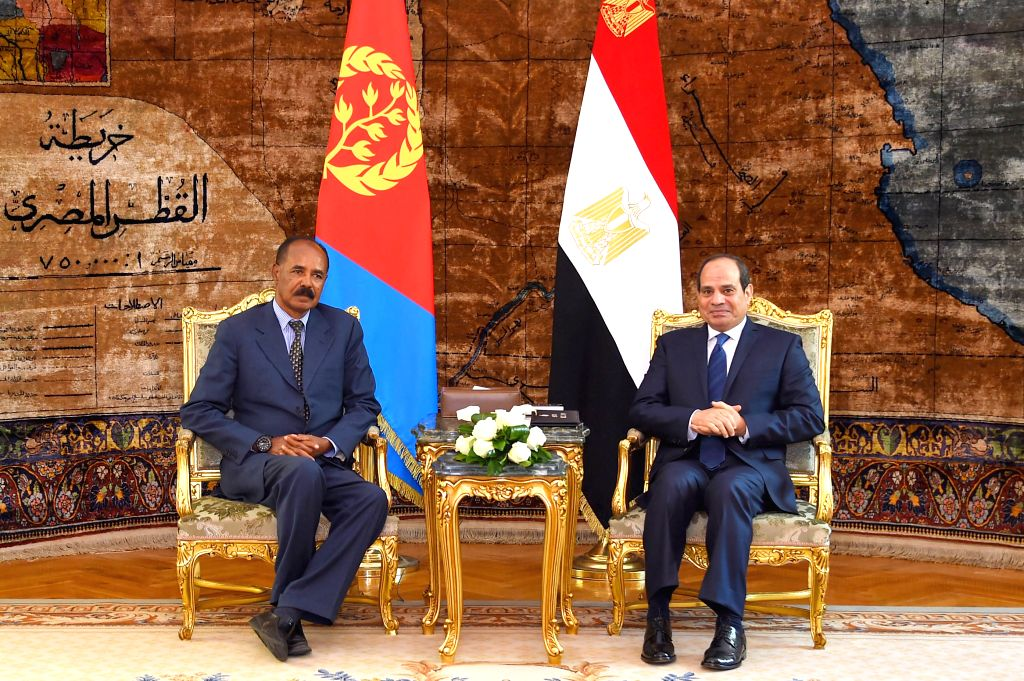 CAIRO, June 8, 2019 - Egyptian President Abdel-Fattah al-Sisi (R) meets with Eritrean President Isaias Afwerki in Cairo, Egypt, on June 8, 2019. Egyptian President Abdel-Fattah al-Sisi held talks on ...