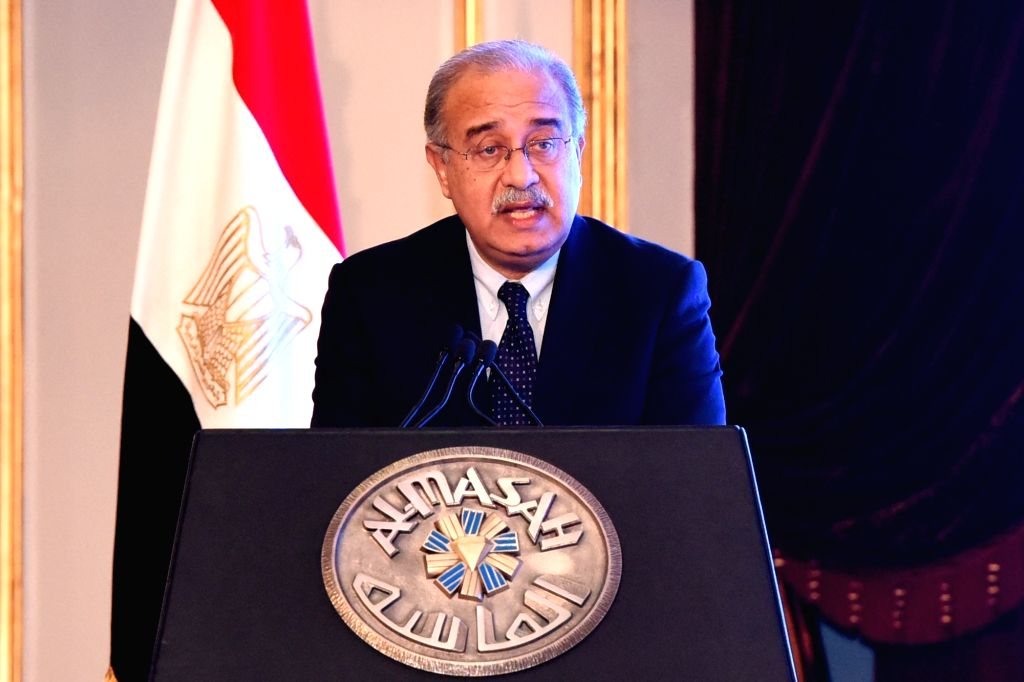 CAIRO, Nov. 13, 2016 - Egyptian Prime Minister Sherif Ismail addresses the first session of a three-day economic conference, attended by several ministers as well as hundreds of economists and ... - Sherif Ismail