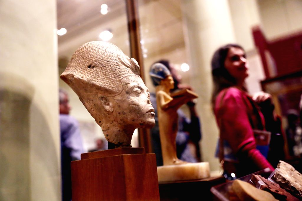 CAIRO, Nov. 15, 2019 - People visit the Egyptian Museum in Cairo, Egypt, on Nov. 15, 2019. Egypt celebrated on Friday the 117th anniversary of the establishment of the Egyptian Museum located in ...