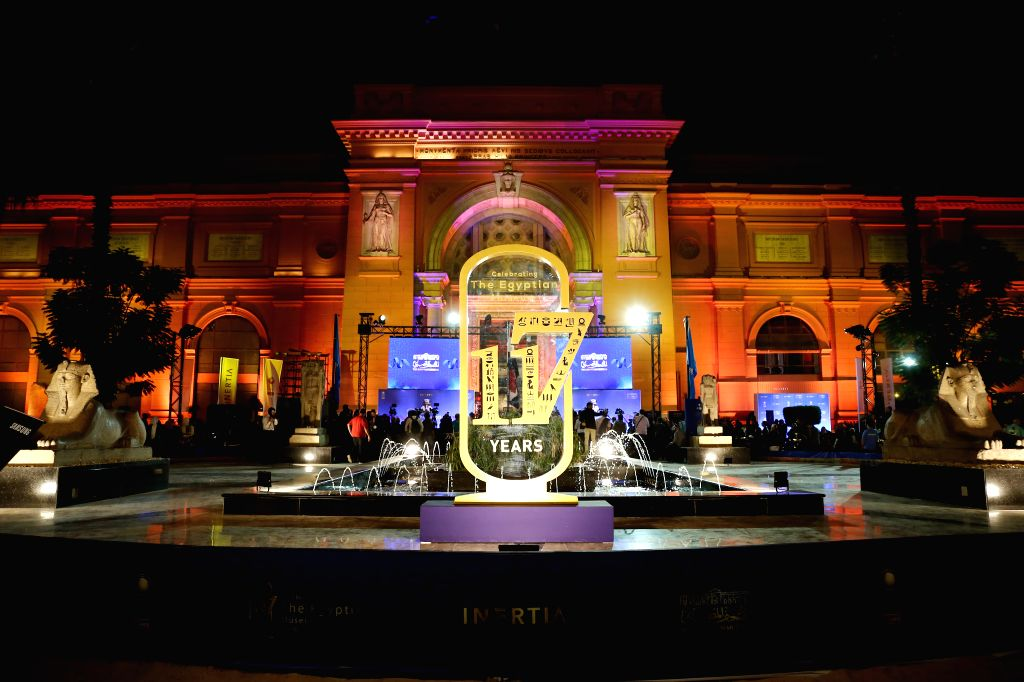 CAIRO, Nov. 15, 2019 - Photo taken on Nov. 15, 2019 shows the exterior of the Egyptian Museum in Cairo, Egypt. Egypt celebrated on Friday the 117th anniversary of the establishment of the Egyptian ...
