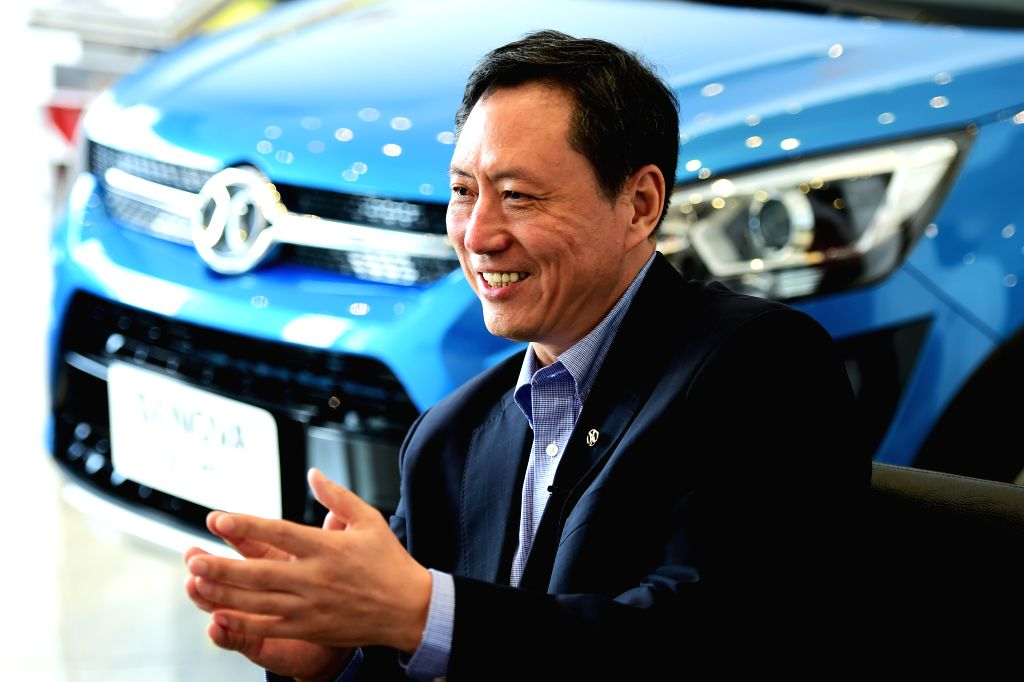 CAIRO, Oct. 27, 2016 - Wei Huacheng, vice chairman of the Beijing Automotive Industry Corporation (BAIC) group talks during an interview with Xinhua in Cairo, capital of Egypt, on Oct. 25, 2016. A ...