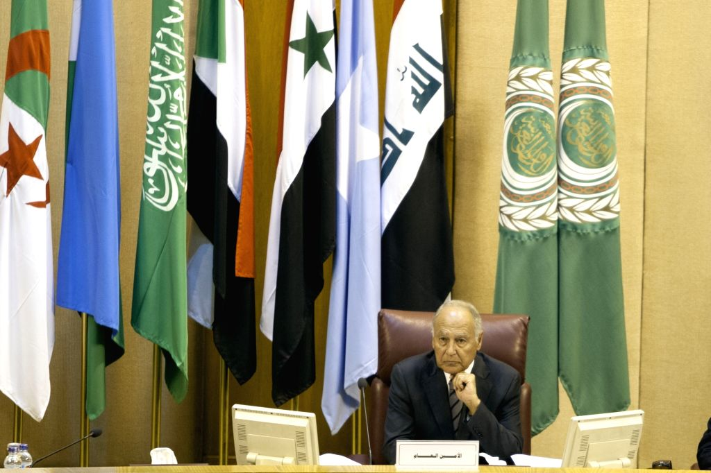 CAIRO, Sept. 12, 2017 - Ahmed Aboul-Gheit, Secretary-General of the Arab League (AL), attends the 148th ordinary session of the AL council at the level of foreign ministers at the AL headquarters in ...