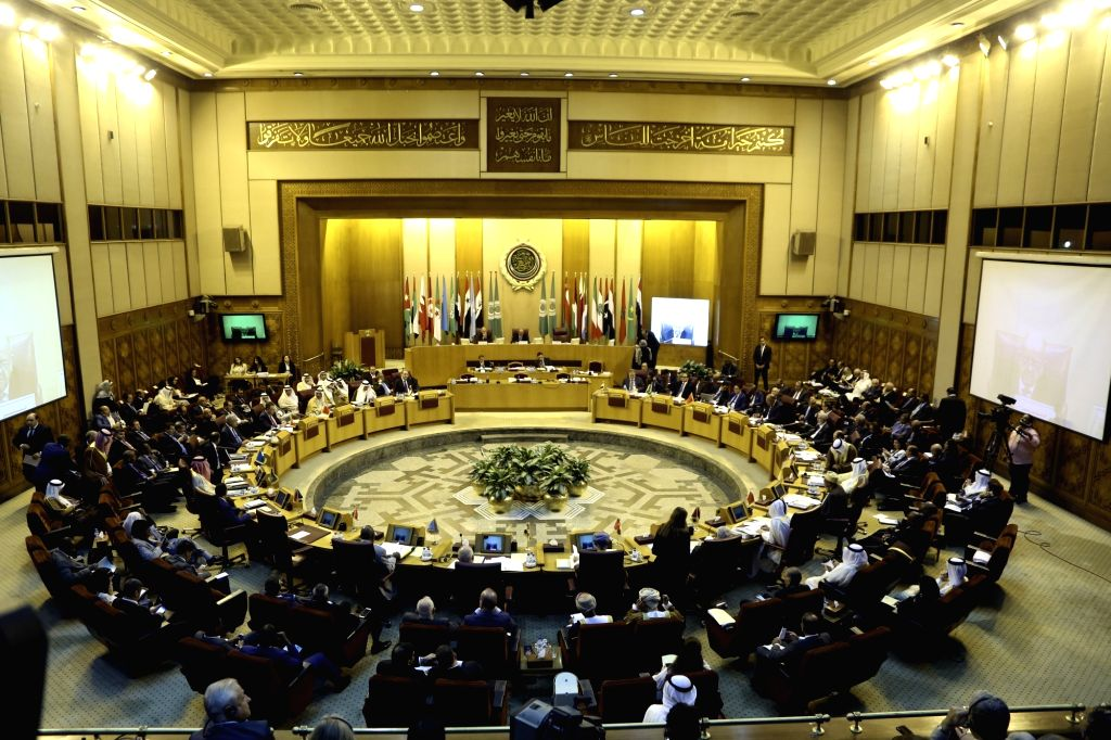 CAIRO, Sept. 12, 2017 - Photo taken on Sept. 12, 2017 shows the 148th ordinary session of the Arab League (AL) council at the level of foreign ministers at the AL headquarters in Cairo, Egypt. A ...