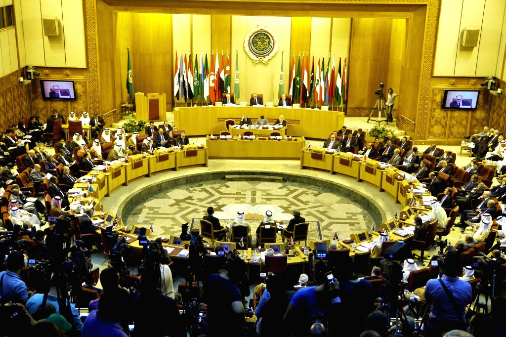 An emergency meeting is held by foreign ministers of the Arab League in Cairo, Egypt, Sept. 7, 2014. Arab foreign ministers were expected to issue a resolution to ...