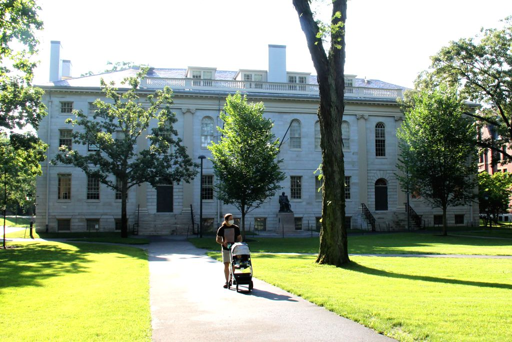 CAMBRIDGE (U.S.), July 14, 2020 Photo taken on July 14, 2020 shows a view of the campus of Harvard University in Cambridge of Massachusetts, the United States. The U.S. government has ...