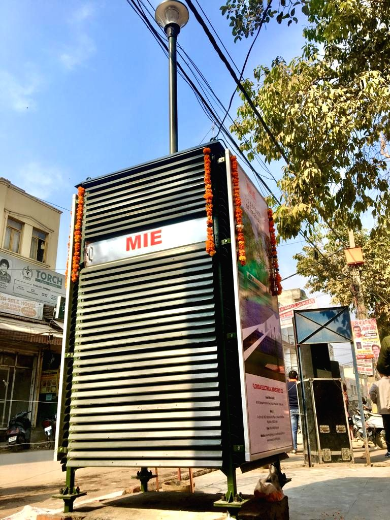 Can't just sit at home': Gambhir installs 3rd giant air purifier.
