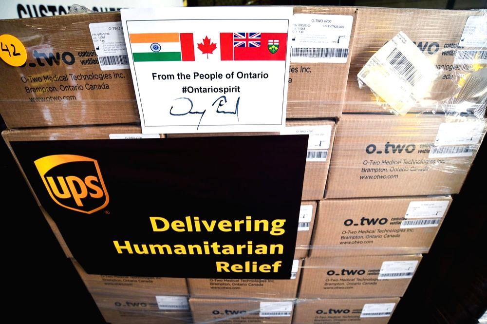 Canadian city lights up for India as 3,000 ventilators sent to Delhi