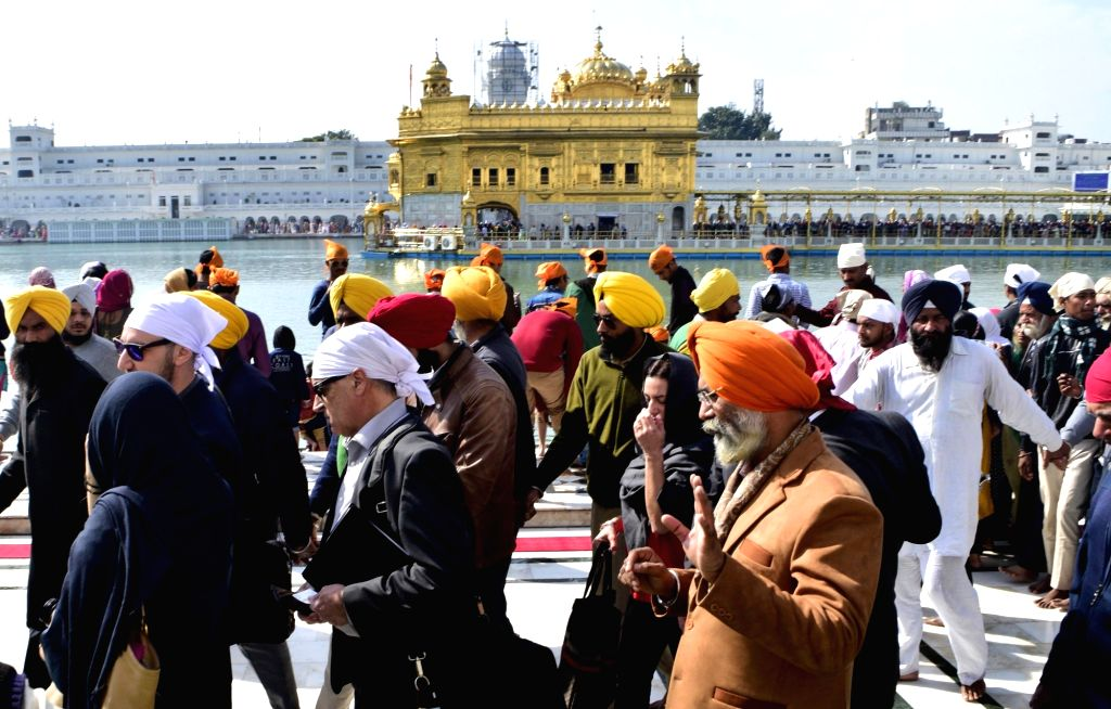 Canadian government delegation visit the Golden Temple ahead of Prime Minister Justin Trudeau visit to India, in Amritsar on Feb 15, 2018. Canadian Prime Minister announced that he will ... - Justin Trudeau