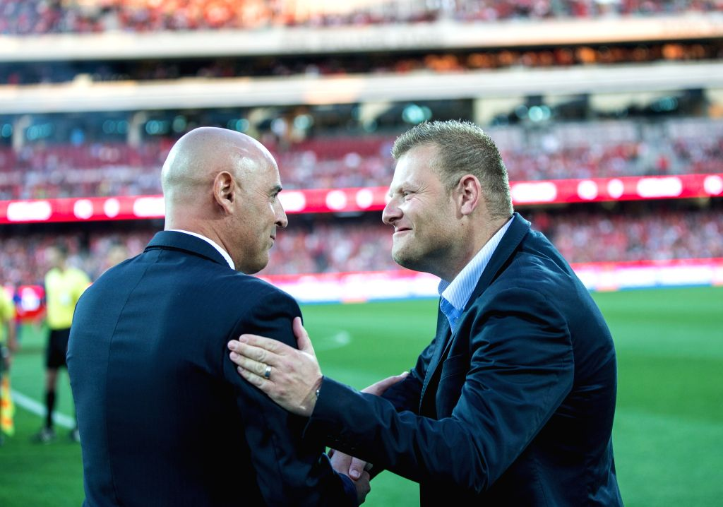 CANBERRA, June 28, 2016 - File photo taken on October 17, 2014 shows Josep Gombau (R), the head coach of Adelaide United during an A-League match between Adelaide United and Melbourne Victory in ...