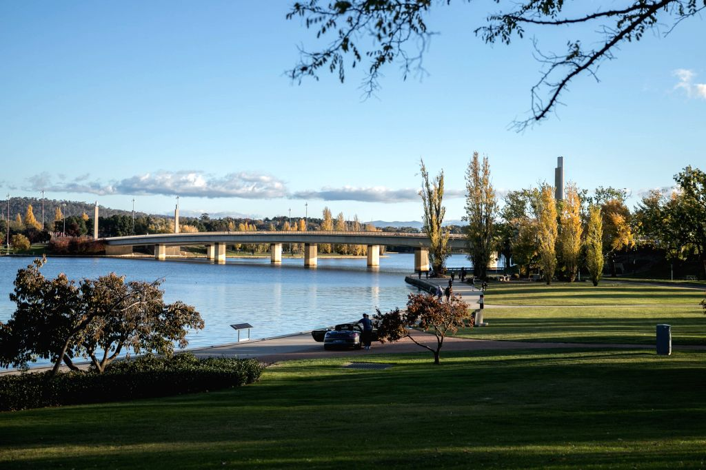 CANBERRA, May 12, 2019 - Photo taken on May 11, 2019 shows a view of Lake Burley Griffin in Canberra, Australia.
