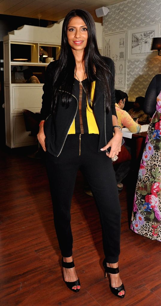 Candice Pinto during the launch of Smoke House Deli BKC branch in Mumbai on Friday, December 20th, 2013.