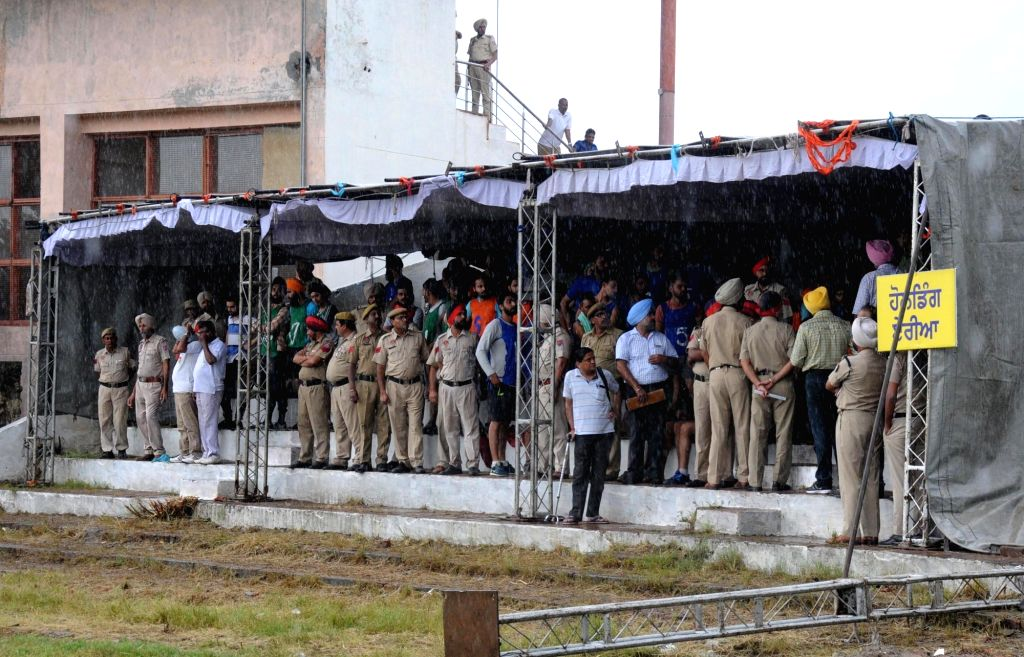 Candidates during a Punjab Police Recruitment drive in Amritsar on July 27, 2016.