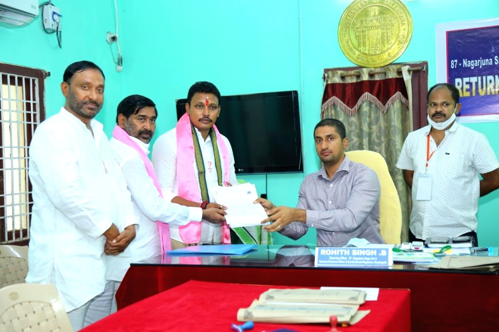candidates of major parties file nomindations in Nagarjuna Sagar