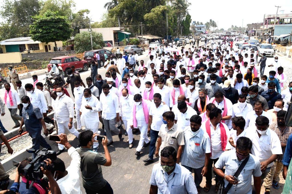 candidates of major parties file nomindations in Nagarjuna Sagar