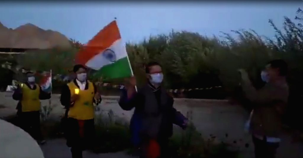 Candlelight march in Leh in memory of braveheart Nyima Tenzin.