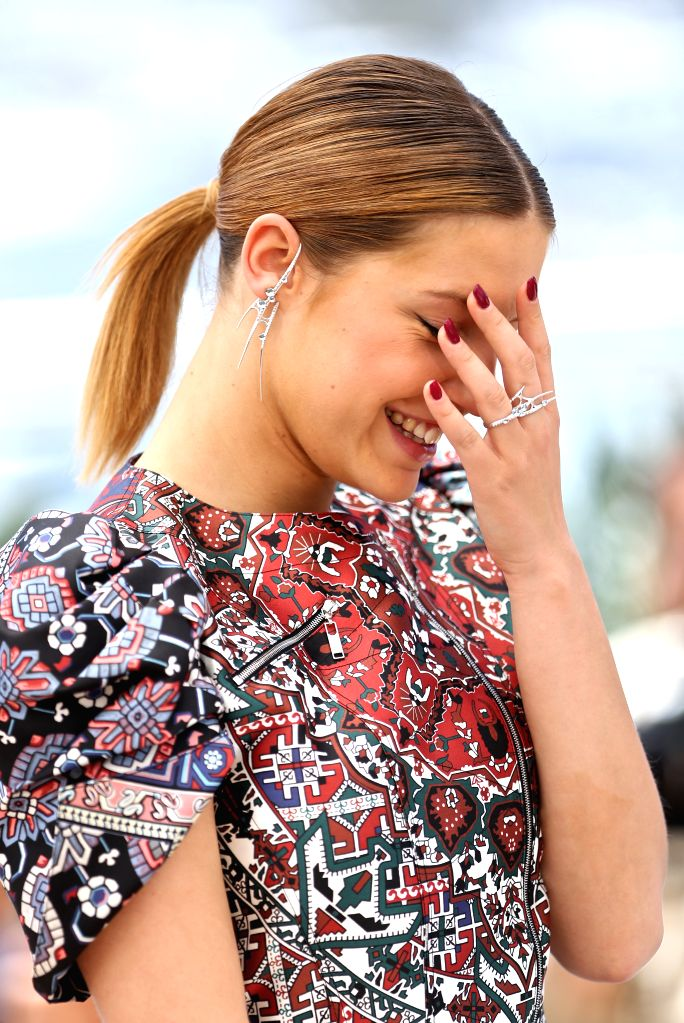 """CANNES (FRANCE), May 20, 2016 Cast member Adele Exarchopoulos poses during a photocall for the film """"The Last Face"""" in competition at the 69th Cannes Film Festival in Cannes, ..."""