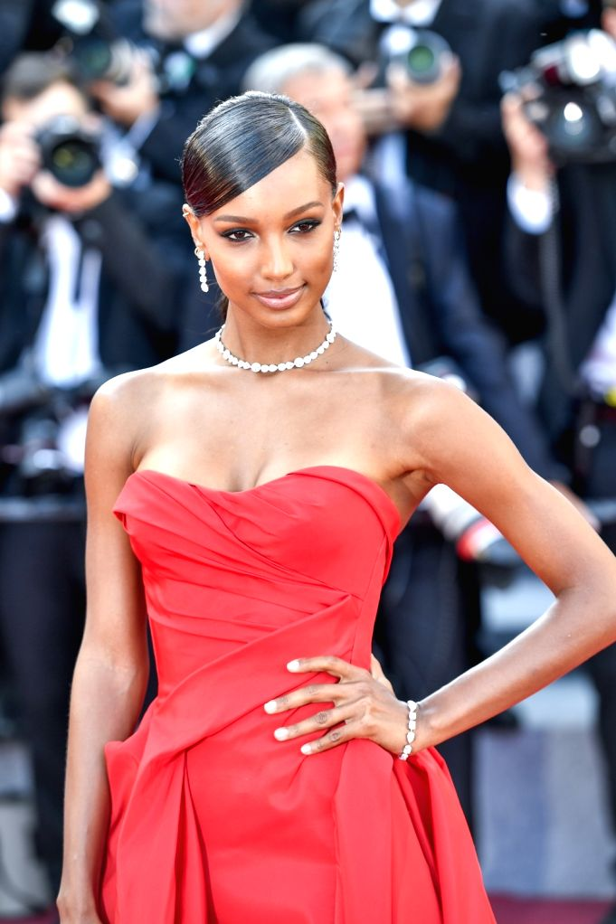 """CANNES, May 12, 2018 - American model Jasmine Tookes poses on the red carpet during the premiere of the film """"Girls of the Sun"""" at the 71st Cannes International Film Festival in Cannes, ... - Jasmine Tookes"""