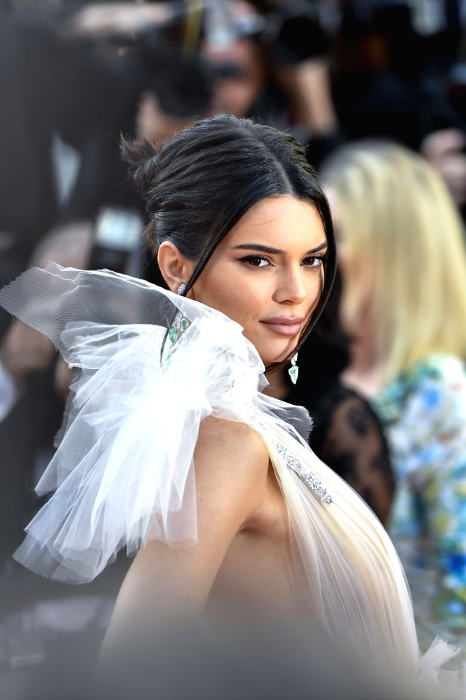 """CANNES, May 12, 2018 - American model Kendall Jenner poses on the red carpet during the premiere of the film """"Girls of the Sun"""" at the 71st Cannes International Film Festival in Cannes, ... - Kendall Jenner"""