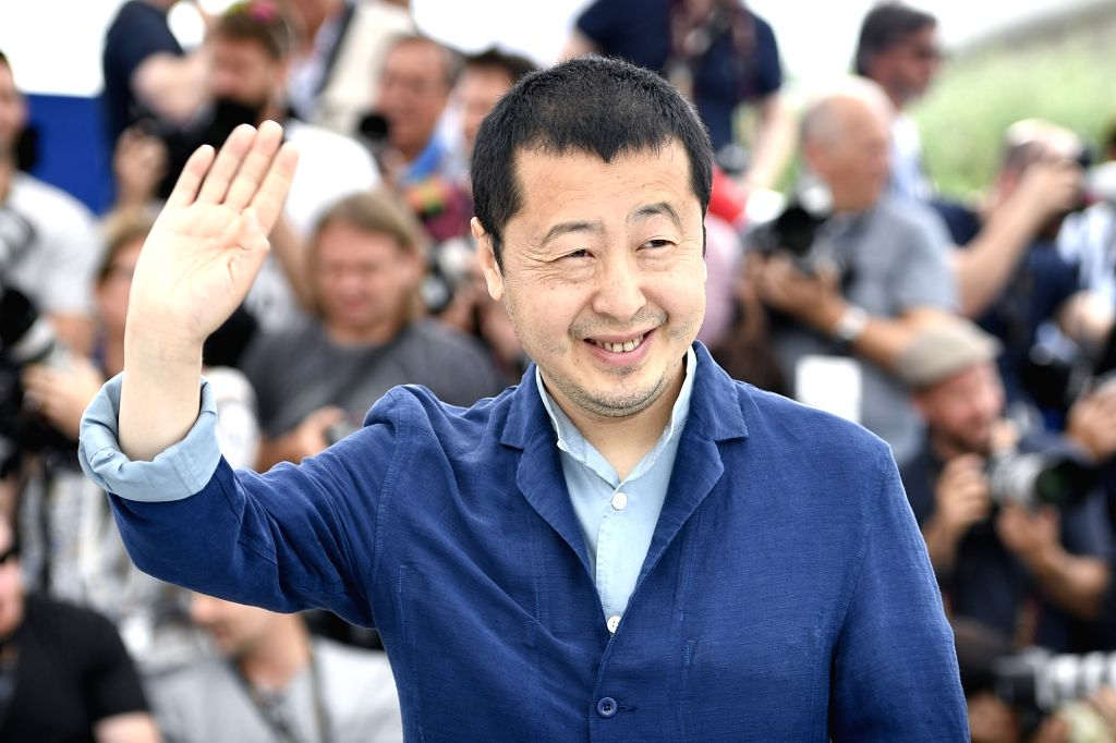 """CANNES, May 12, 2018 - Director Jia Zhangke of the Chinese film in competition, """"Ash is Purest White"""", poses during a photocall of the 71st Cannes International Film Festival in Cannes, ..."""
