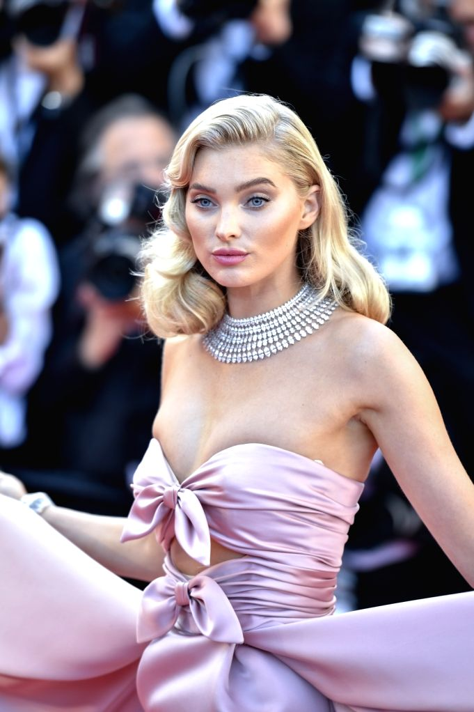 """CANNES, May 12, 2018 - Swedish model Elsa Hosk poses on the red carpet during the premiere of the film """"Girls of the Sun"""" at the 71st Cannes International Film Festival in Cannes, France, ... - Elsa Hosk"""