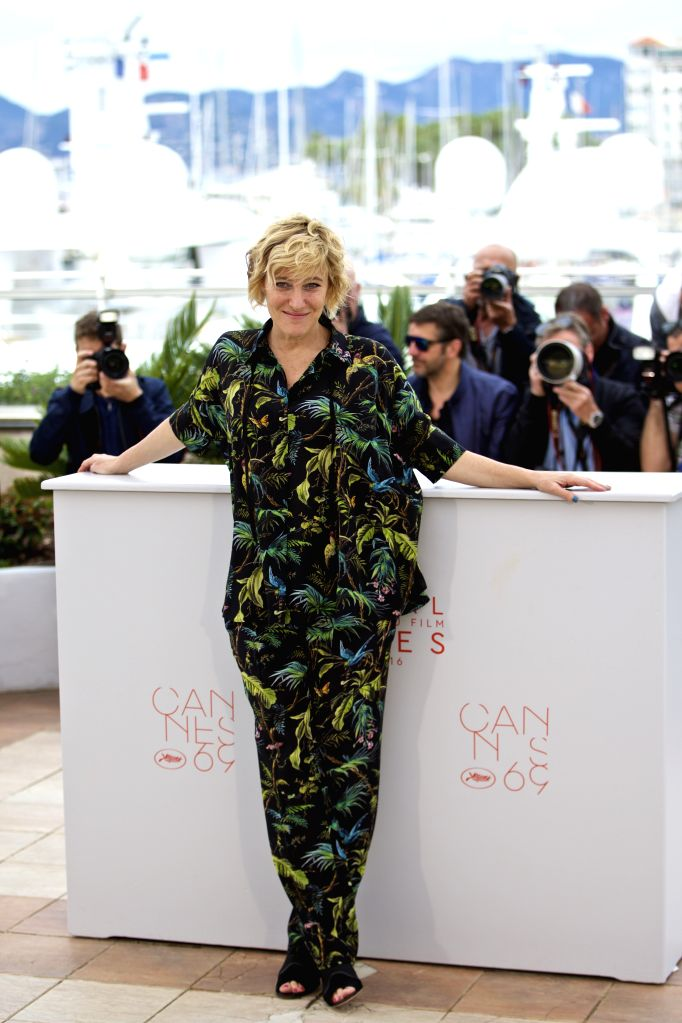 """CANNES, May 13, 2016 - Cast member Valeria Bruni Tedeschi poses during a photocall for the film """"Ma Loute"""" (Slack Bay) during the 69th Cannes Film Festival in Cannes, France, May 13, 2016."""