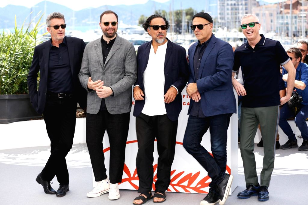 CANNES, May 14, 2019 - Members of the feature films jury pose at a photocall before the opening of the 72nd Cannes Film Festival in Cannes, France, May 14, 2019.