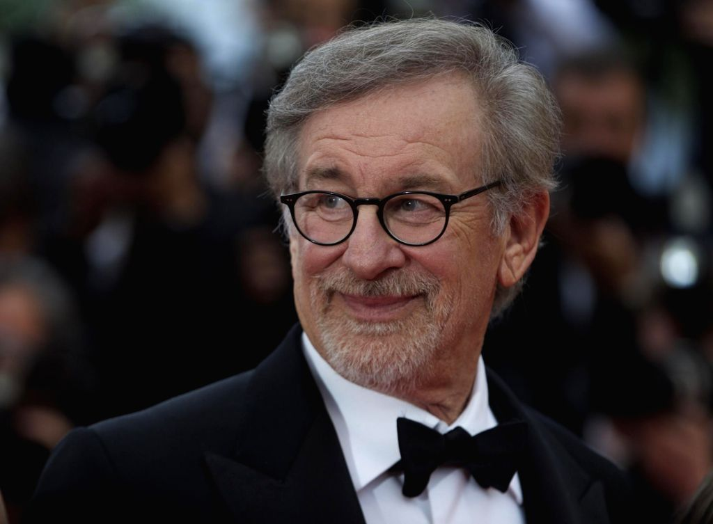 """CANNES, May 15, 2016 (Xinhua) -- Director Steven Spielberg poses on the red carpet as he arrives for the screening of the film """"The BFG"""" at the 69th Cannes Film Festival in Cannes, France, May 14, 2016. (Xinhua/Jin Yu/IANS)"""