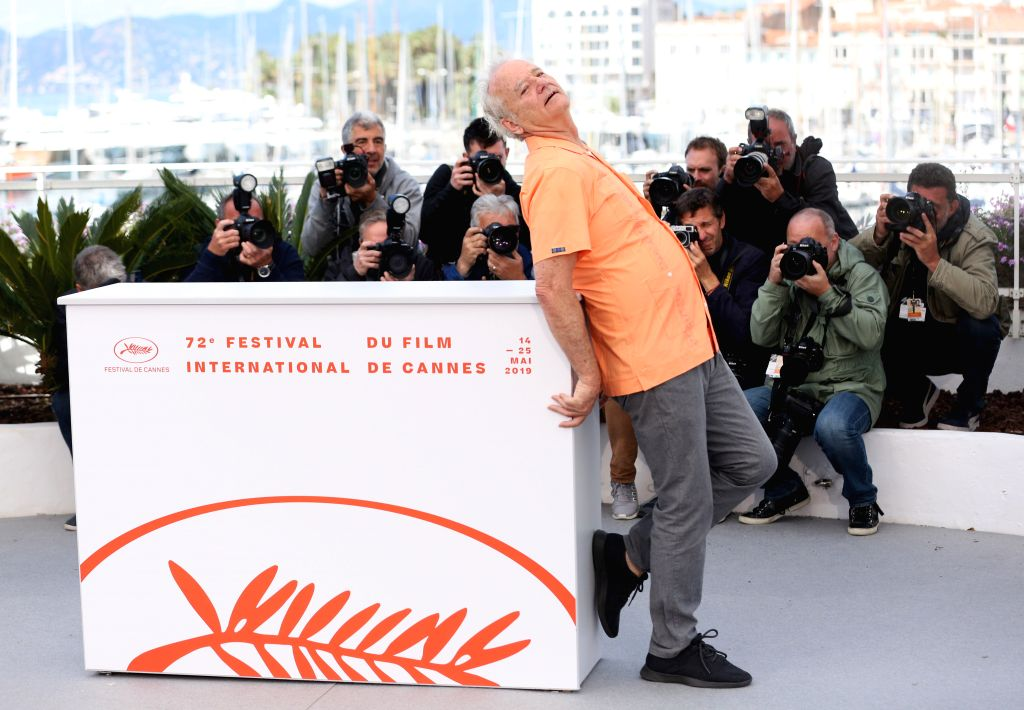 CANNES, May 15, 2019 - Actor Bill Murray poses for photos during the 72nd Cannes Film Festival in Cannes, France, May 15, 2019. The 72nd Cannes Film Festival is held here from May 14 to 25. - Bill Murray