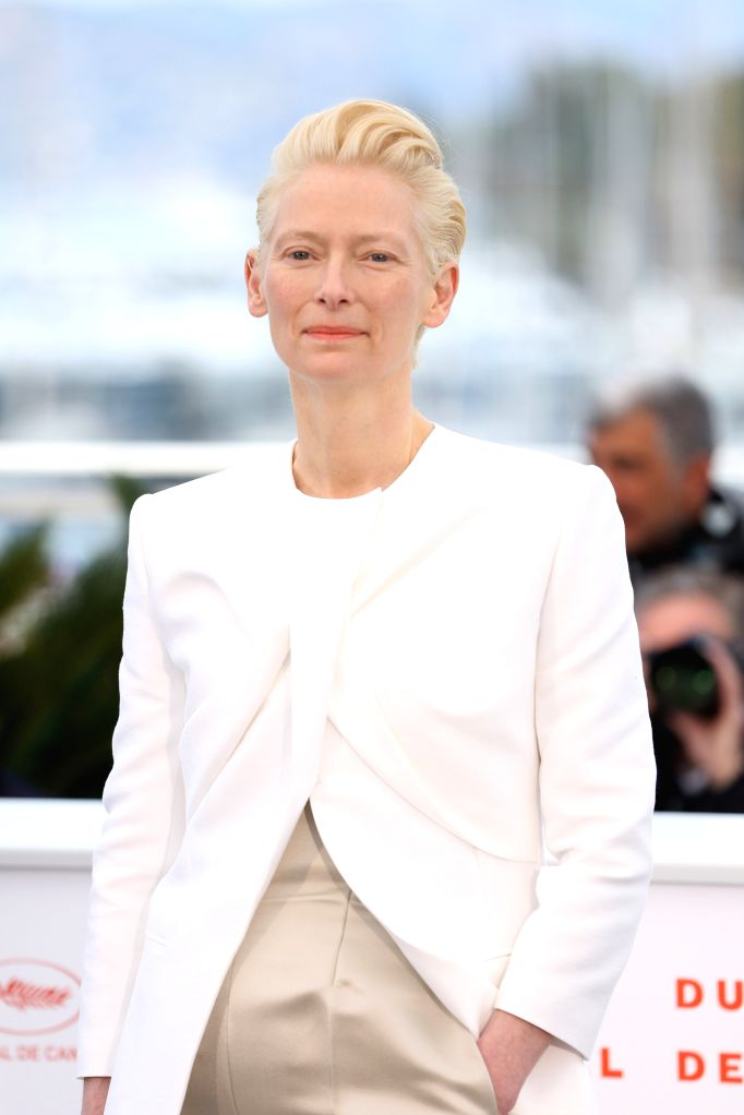 CANNES, May 15, 2019 - Actress Tilda Swinton poses for photos during the 72nd Cannes Film Festival in Cannes, France, May 15, 2019. The 72nd Cannes Film Festival is held here from May 14 to 25. - Tilda Swinton