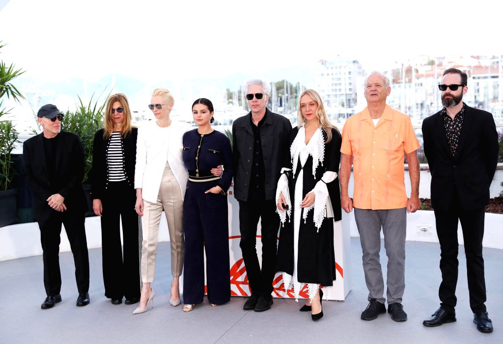 "CANNES, May 15, 2019 - Director Jim Jarmusch (4th R) and cast members of ""The Dead Don't Die"" pose for photos during the 72nd Cannes Film Festival in Cannes, France, May 15, 2019. The 72nd ..."