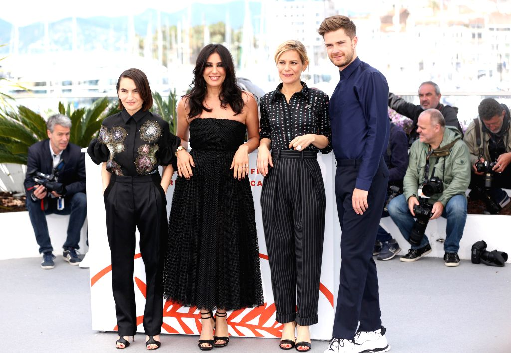 CANNES, May 15, 2019 - Un Certain Regard jury president Nadine Labaki (2nd L) and other jury members pose for photos during a photocall at the 72nd Cannes Film Festival in Cannes, France, May 15, ...