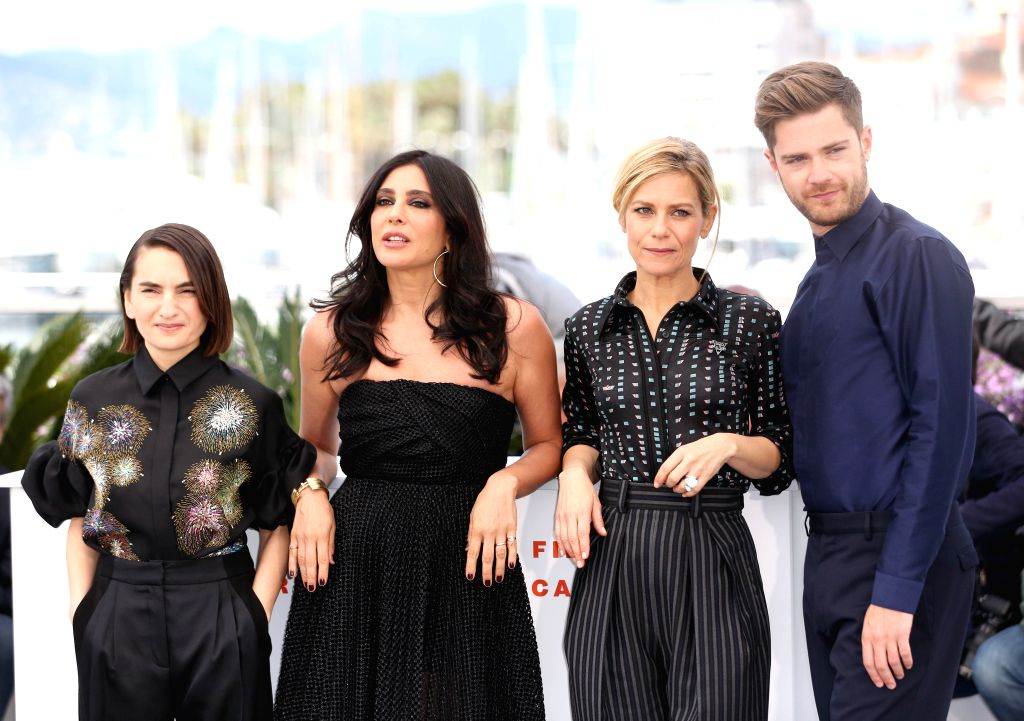 CANNES, May 15, 2019 - Un Certain Regard jury president Nadine Labaki (2nd L) and other jury members pose during a photocall at the 72nd Cannes Film Festival in Cannes, France, May 15, 2019. The 72nd ...