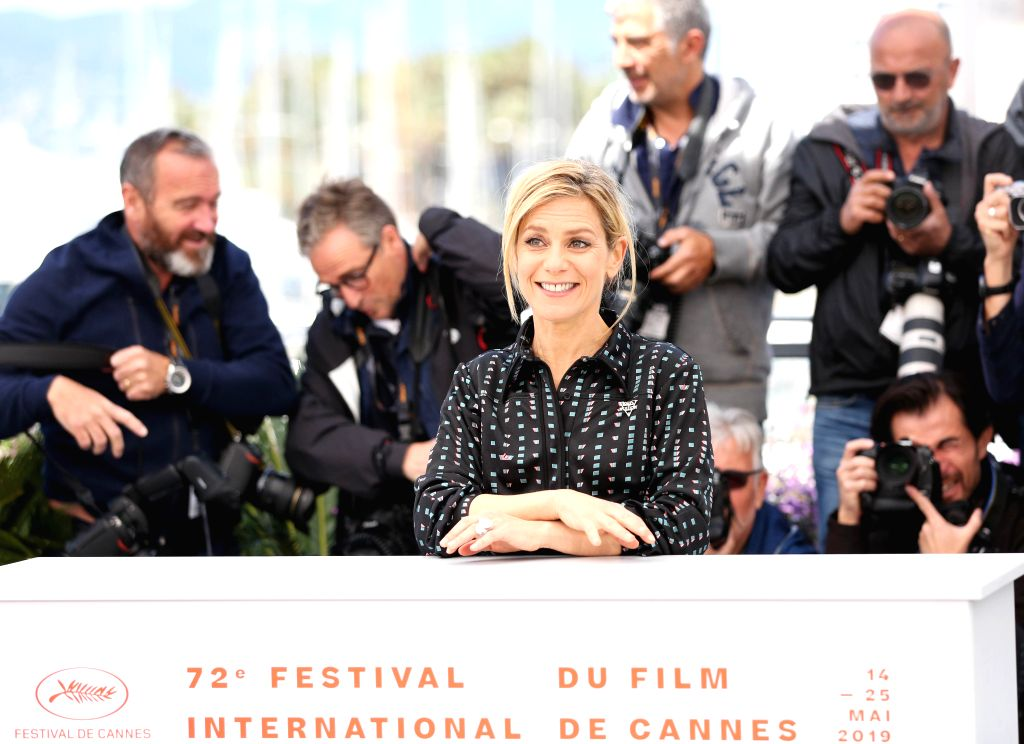 CANNES, May 15, 2019 - Un Certain Regard jury member Marina Fois poses during a photocall at the 72nd Cannes Film Festival in Cannes, France, May 15, 2019. The 72nd Cannes Film Festival is held here ...